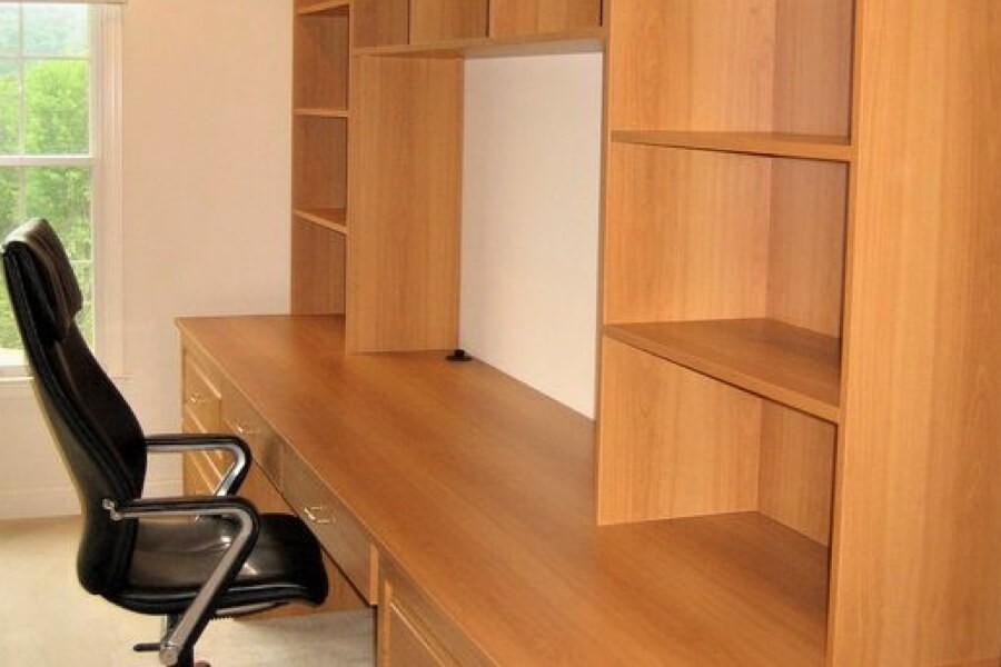 Home office built in shelves | Top Shelf Closets