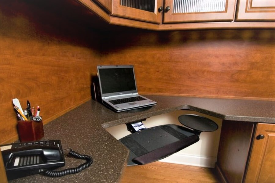Home office desk with laptop | Top Shelf Closets
