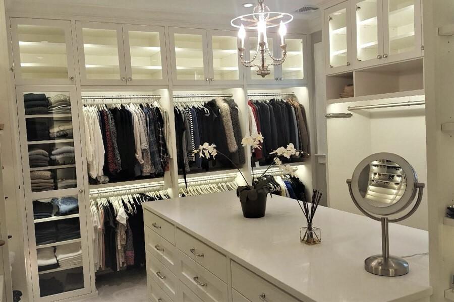 Master walk in closet | Top Shelf Closets