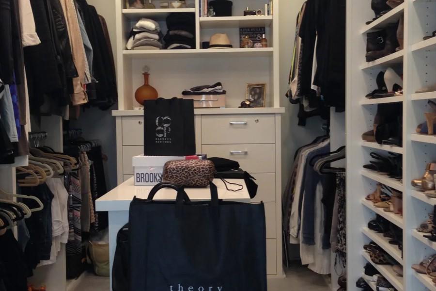 Master dressing room walk in closet | Top Shelf Closets